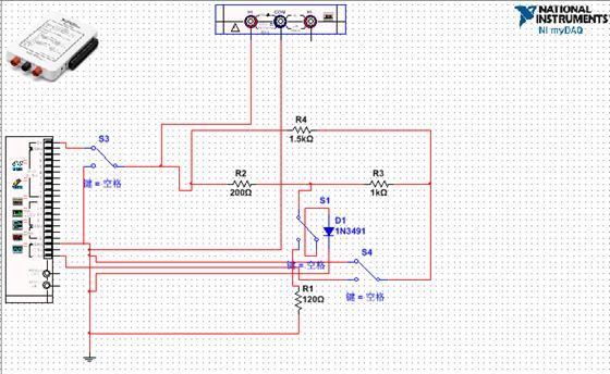 采用NI公司的MyDAQ教学平台,基于Multisim和Labview仿真软件,采用虚实结合的方式进行实验教学。通过本课程的学习,使得学生掌握电路理论的基础知识和基本分析方法;学会使用万用表、信号发生器等常用仪器;正确使用各种电阻电容等元器件;掌握元件的伏安特性及三相电路参数的测试方法。 电路分析实验平台的典型实验项目